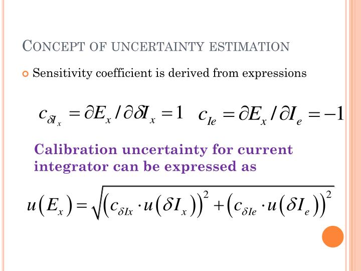Concept of uncertainty estimation
