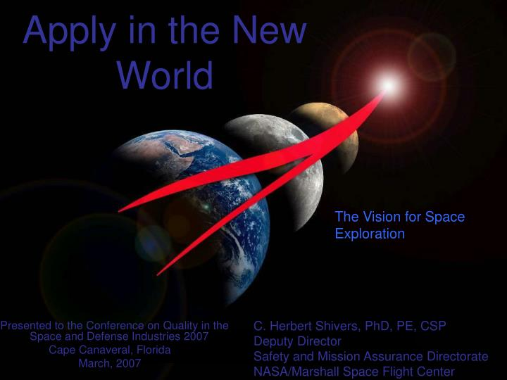 the vision of the new world