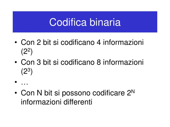 Codifica binaria