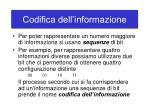 codifica dell informazione