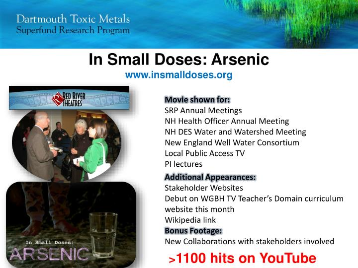 In Small Doses: Arsenic