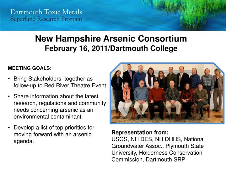 New Hampshire Arsenic Consortium