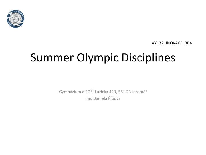 Summer olympic disciplines