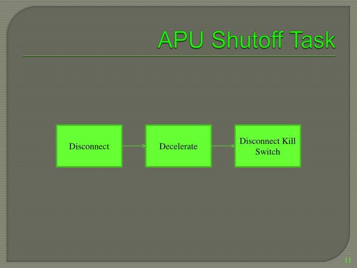 APU Shutoff Task