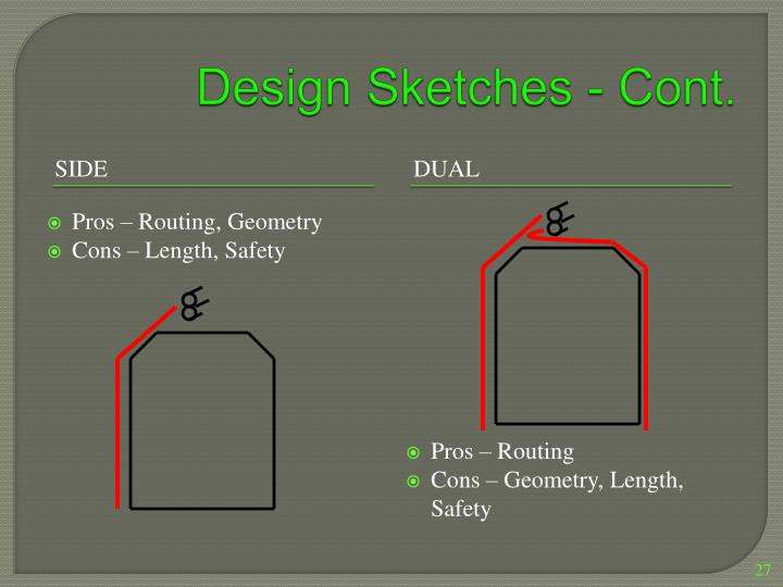 Design Sketches - Cont.