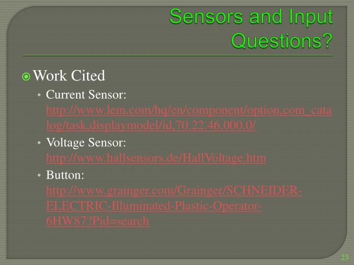 Sensors and Input