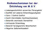 risikomechanismen bei der entstehung von m v