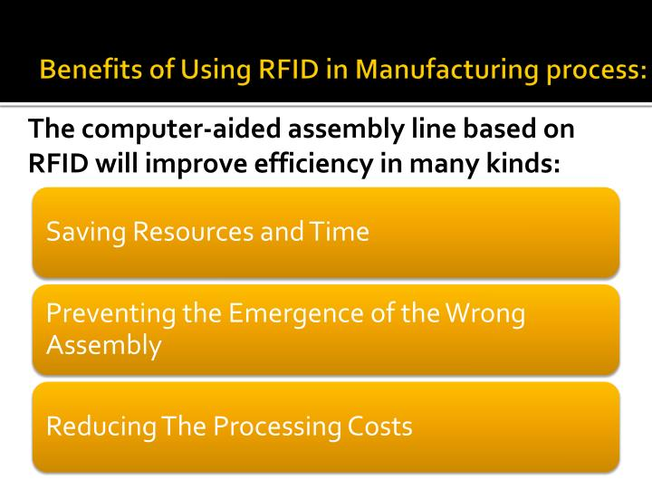 Benefits of Using RFID in Manufacturing process: