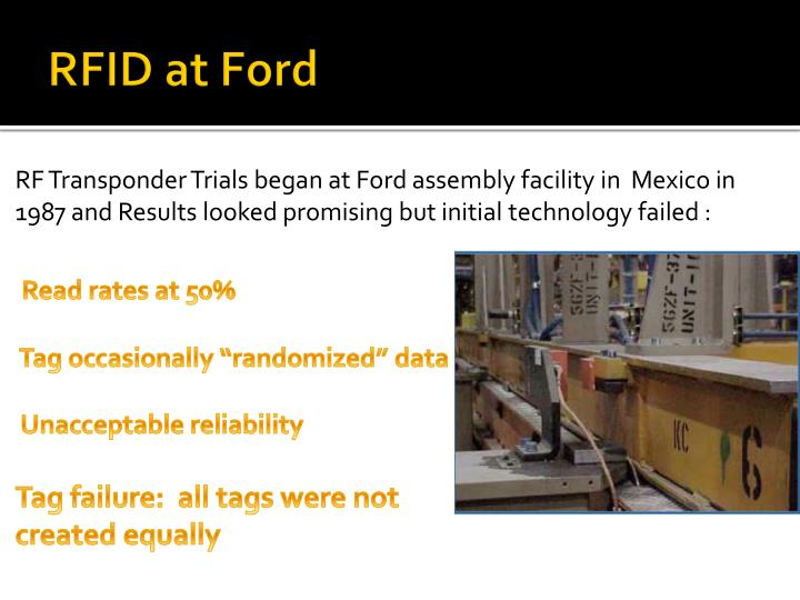 RFID at Ford