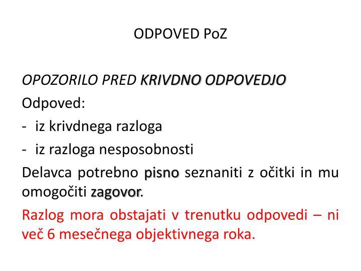 ODPOVED