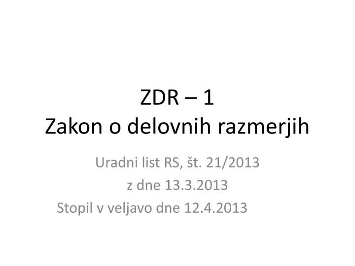ZDR – 1