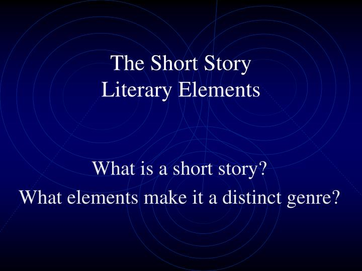 literary analysis of short story on
