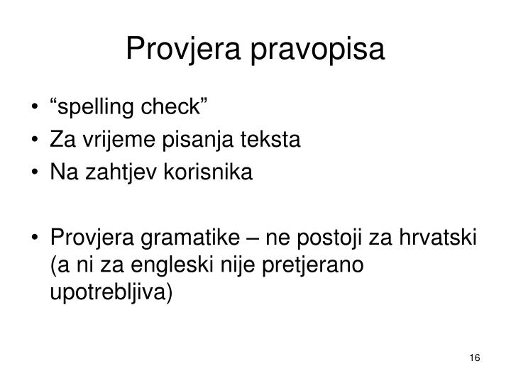 Provjera pravopisa