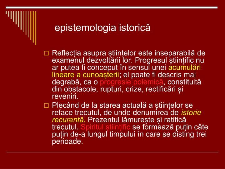 epistemologia istorică
