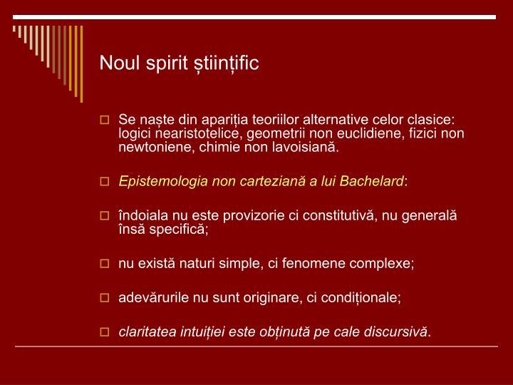 Noul spirit științific