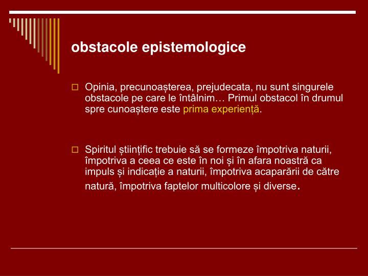 obstacole epistemologice
