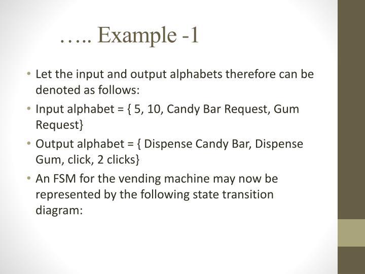 ….. Example -1