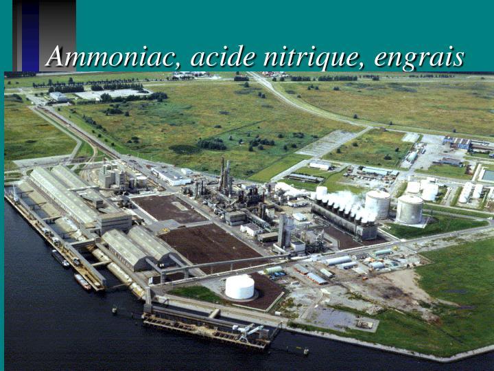 Ammoniac, acide nitrique, engrais