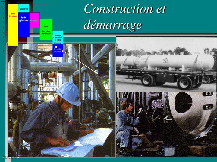 Construction et démarrage