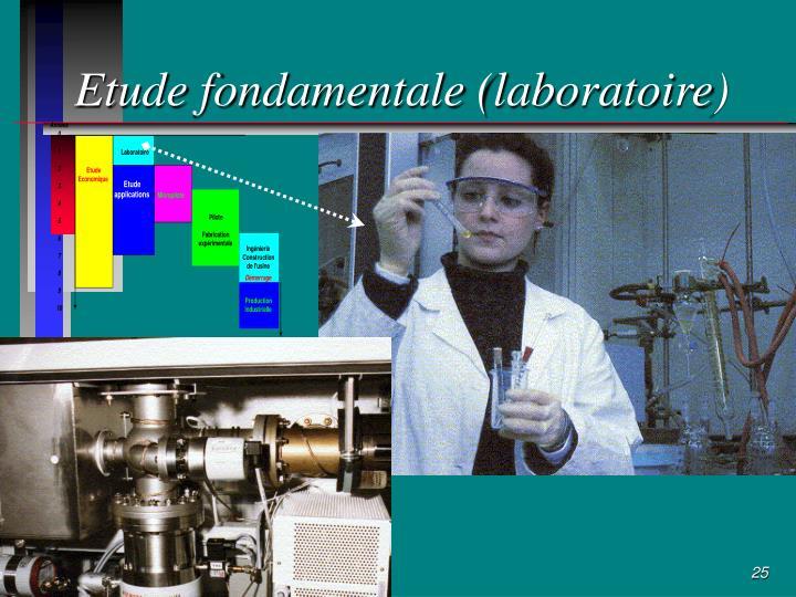 Etude fondamentale (laboratoire)