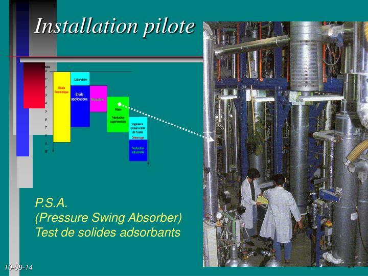 Installation pilote