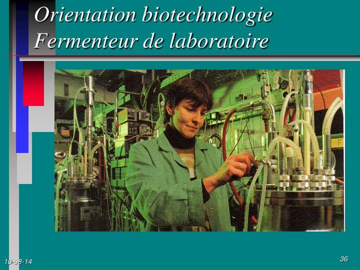 Orientation biotechnologie