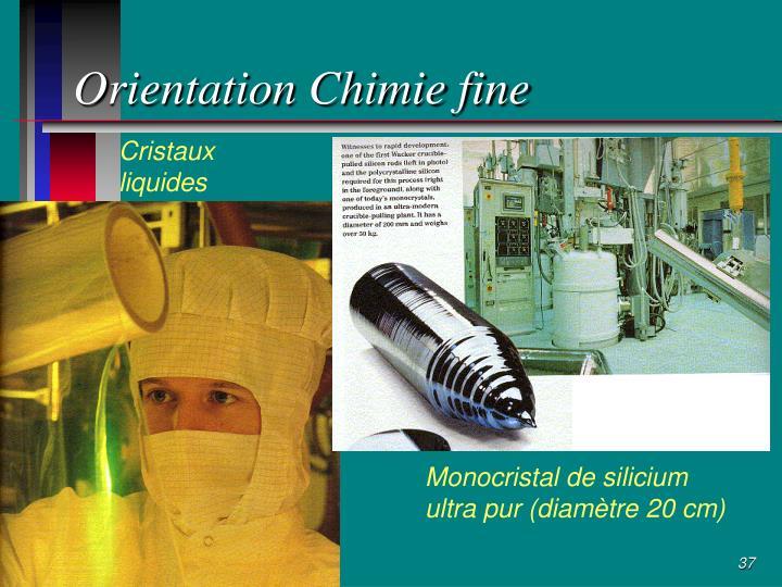 Orientation Chimie fine