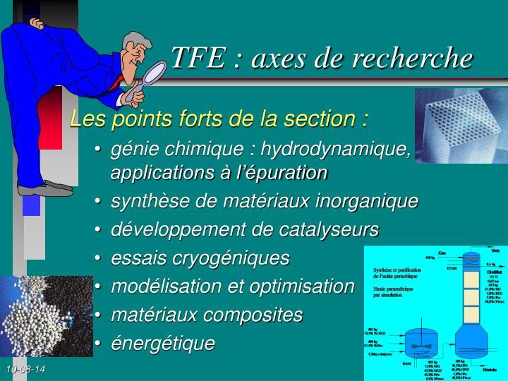 TFE : axes de recherche