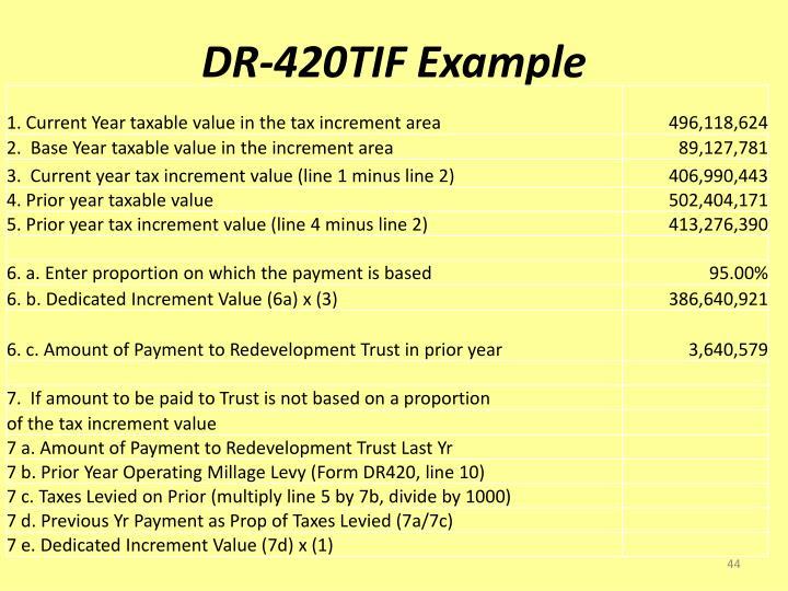 DR-420TIF Example