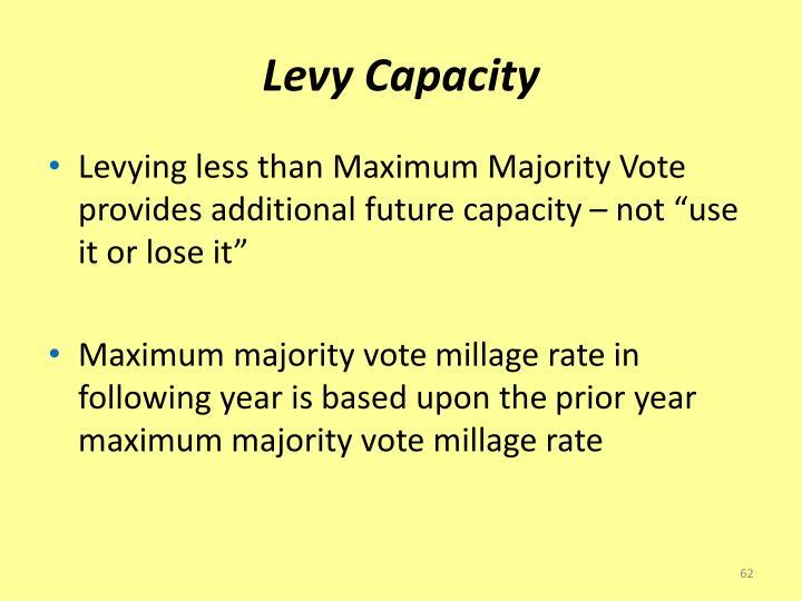 Levy Capacity