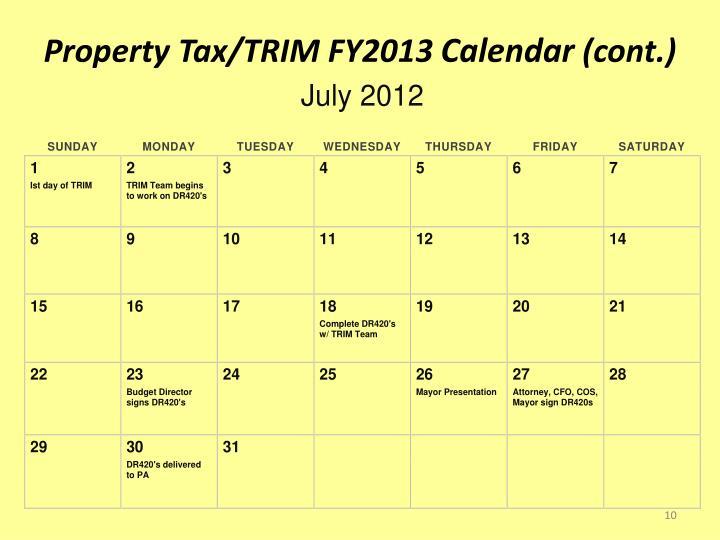Property Tax/TRIM FY2013