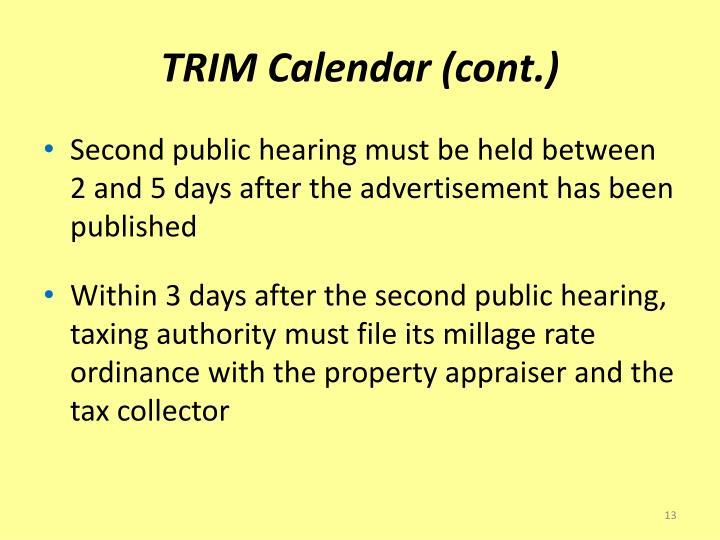 TRIM Calendar