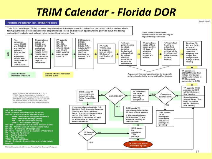 TRIM Calendar - Florida DOR