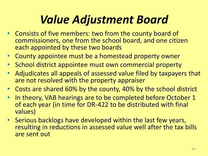 Value Adjustment Board