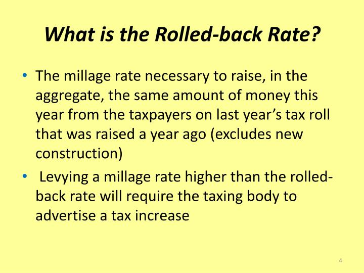 What is the Rolled-back Rate?