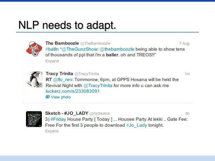 NLP needs to adapt.