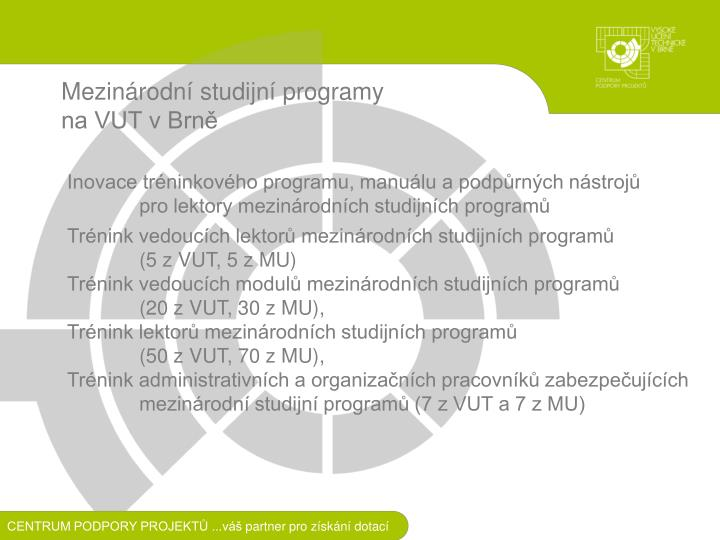 Mezinárodní studijní programy
