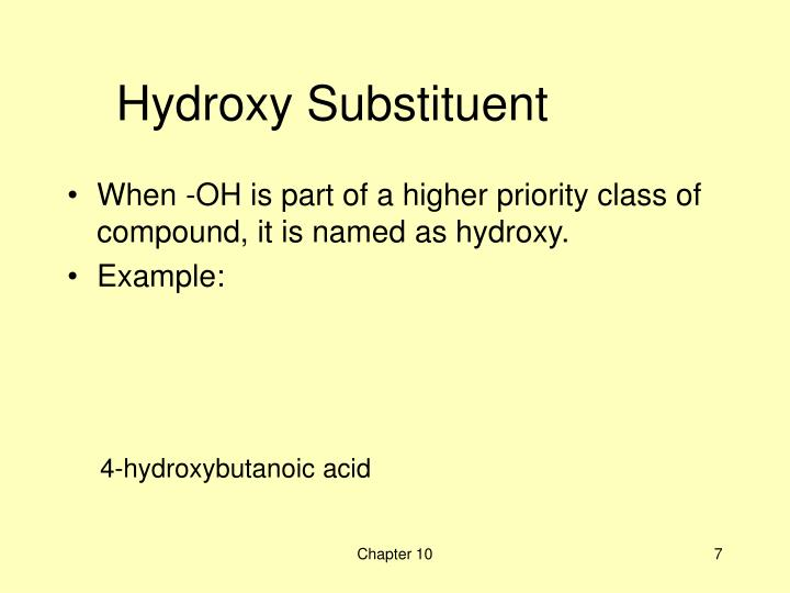 Hydroxy Substituent