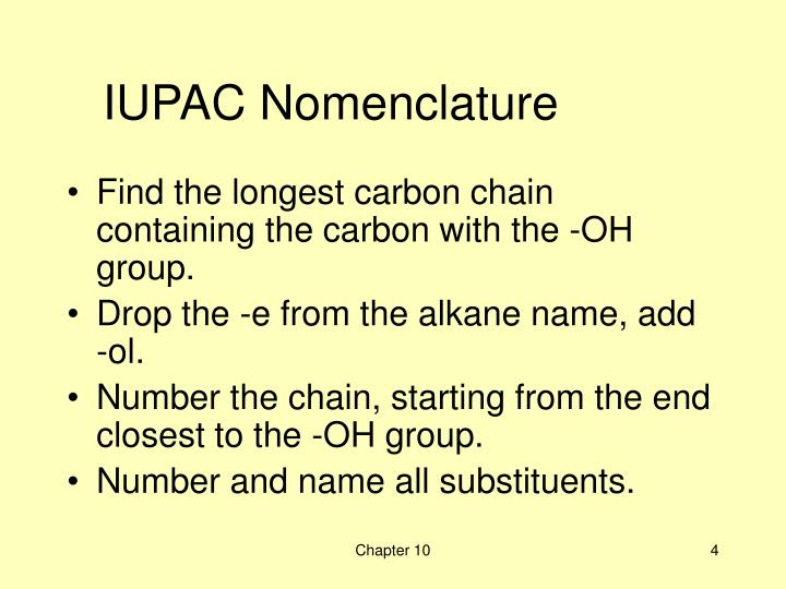 IUPAC Nomenclature