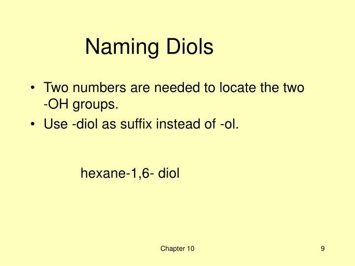 Naming Diols