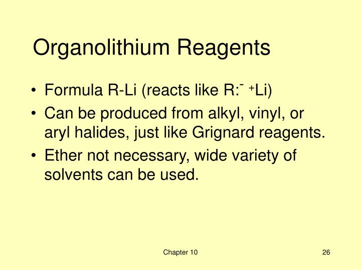 Organolithium Reagents