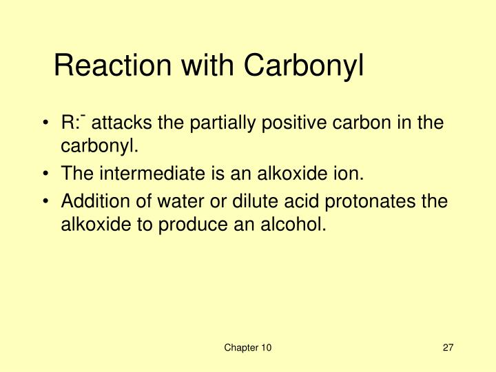 Reaction with Carbonyl