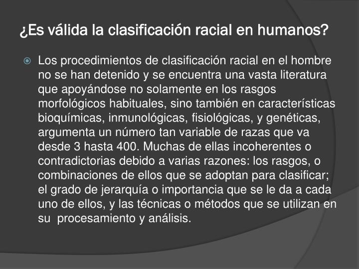 ¿Es válida la clasificación racial