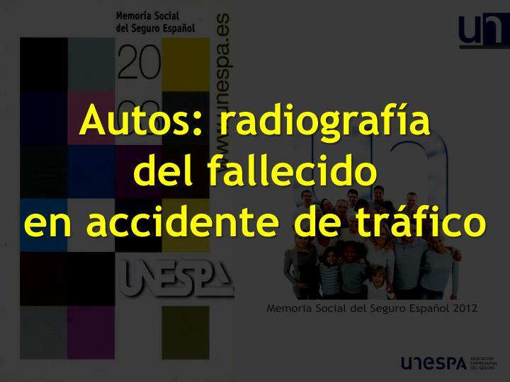 Autos: radiografía