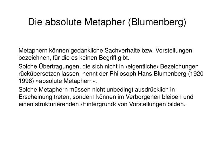 Die absolute Metapher (Blumenberg)