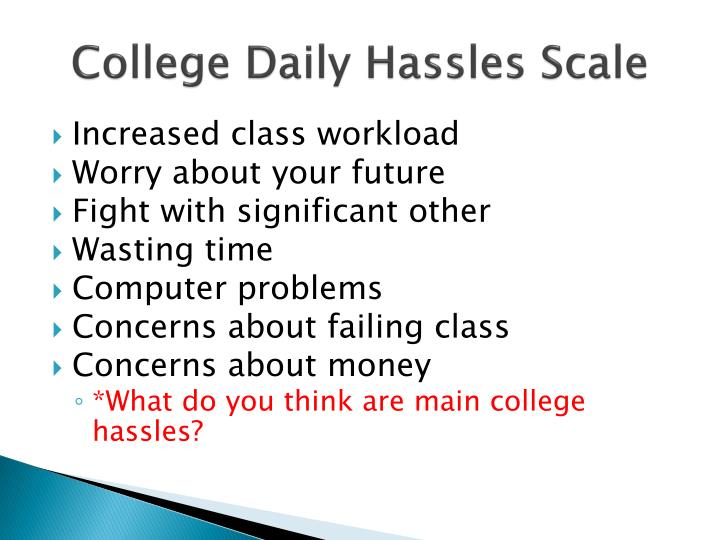 College Daily Hassles Scale