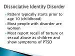 dissociative identity disorder1