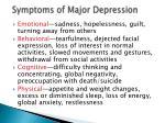symptoms of major depression