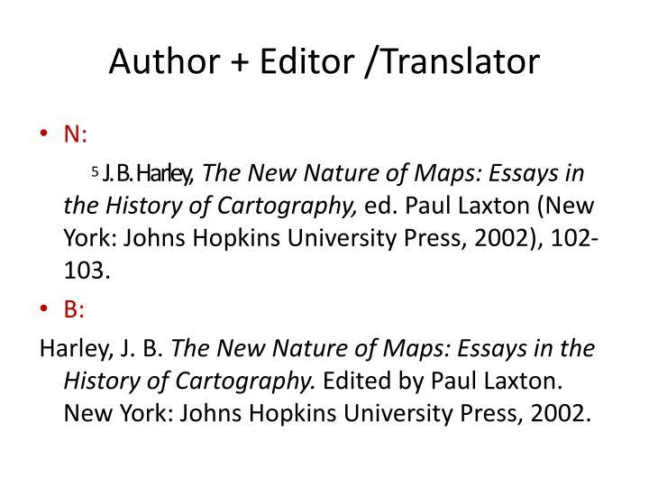 Author + Editor /Translator