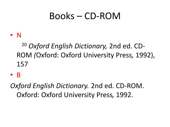 Books – CD-ROM